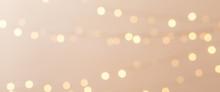 Banner Med Julgransbelysning Ofokuserat I Bakgrunden Med Utrymme För Egen Text