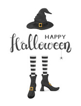 Halloween Theme With Witches L...