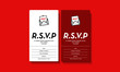 RSVP Card UI Design with Name Venue and Food Preference Details