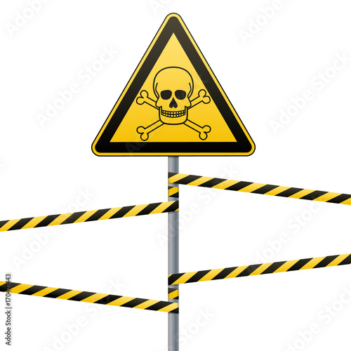 Fotografie, Obraz  Caution - danger Warning sign safety