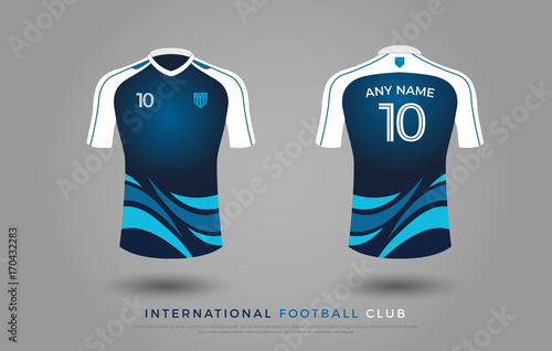 52021810d Vector Illustration. By geengraphy. soccer t-shirt design uniform set of  soccer kit. football jersey template for football