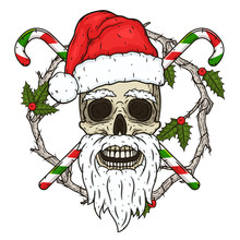The Skull Of Santa Claus In Th...