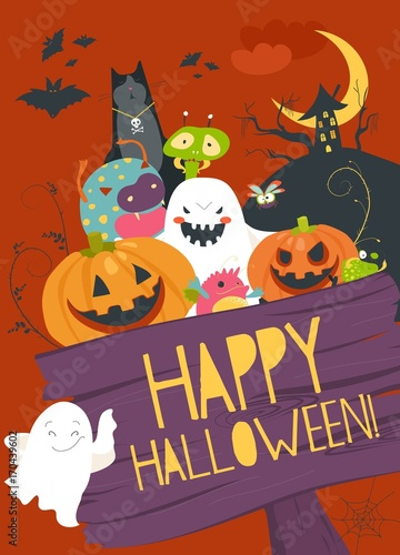 Monster friends guising trick or treat