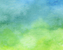 Blue And Green Watercolor Background - Abstract Texture