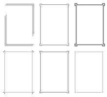 Set Of Frame Border Line Page ...