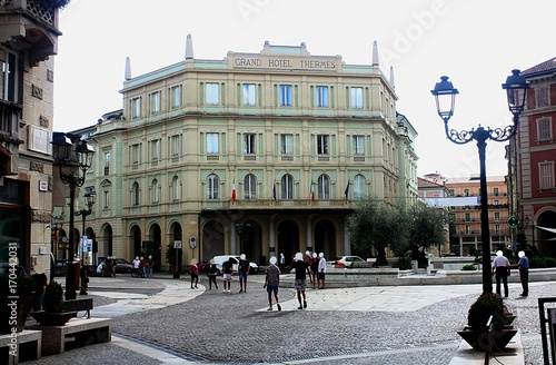 the Grand Hotel Thermes in Acqui Terme, Famous for water-based and spa treatment Canvas Print