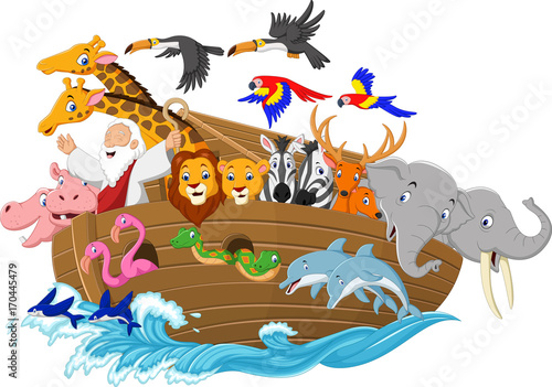 Cartoon Noah's ark Fototapet