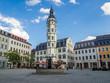 Gera Rathaus mit Marktplatz in Thüringen