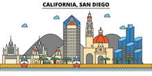 California, San Diego.City Sky...