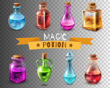 Potion Flasks Transparent Coll...