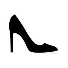 Black Modern Stilleto Shoe Iso...