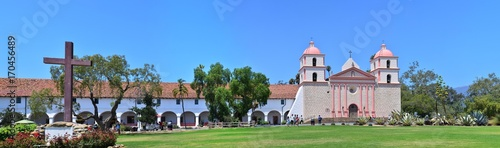 Santa Barbara old spanish mission in California, USA.