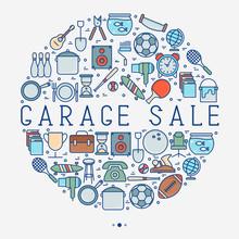 Garage Sale Or Flea Market Con...