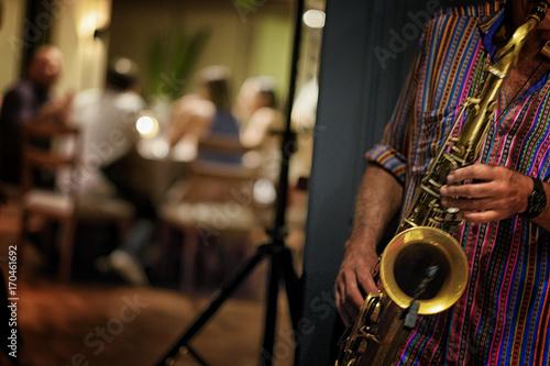 Zdjęcie XXL Saksofonista