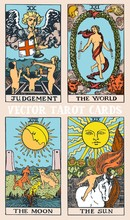Tarot Cards Deck Colorful Vect...