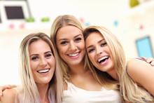 Three Beautiful Young Women Ch...