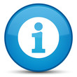Info icon special cyan blue round button