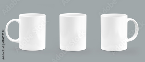 Coffee mug empty mock-up