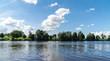 Leinwandbild Motiv Ufer am Fluss