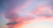 canvas print picture Beautiful pastel cloudy sunset