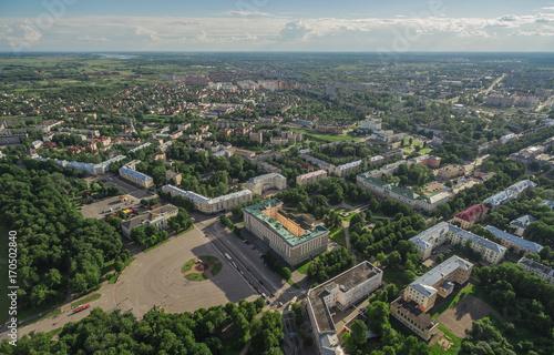 Foto op Aluminium Cityscape of Velikiy Novgorod, Russia. Erial view