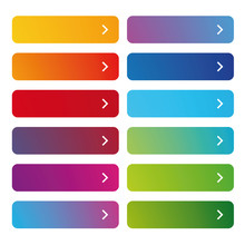 Empty Web Button Set Colorful