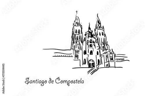Santiago de Compostela. Fototapeta
