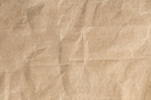 Recycle Brown Paper Crumpled Texture , Old Paper Surface For Background