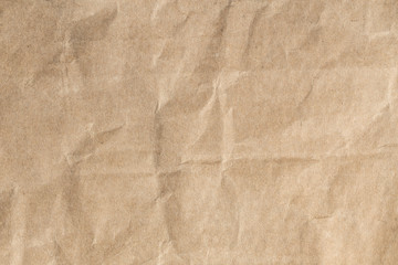 Fototapeta Recycle brown paper crumpled texture,Old paper surface for background