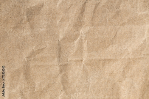 Fotografia, Obraz  Recycle brown paper crumpled texture,Old paper surface for background