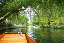 Punted Along The River Avon In...