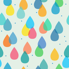 Seamless Pattern With Colorful Drops