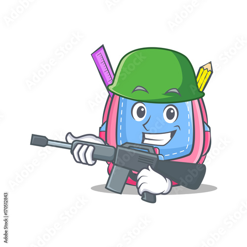 Poster Ouest sauvage Army school bag character cartoon