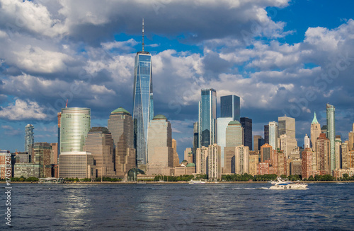 Manhattan Downtown panorama with World Trade Center Poster