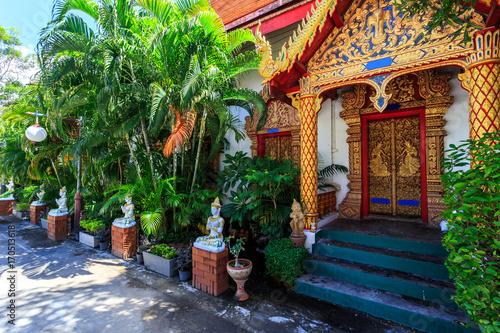 Plakat Wata Pa Prao Nok świątynia w Chiang Mai, Tajlandia
