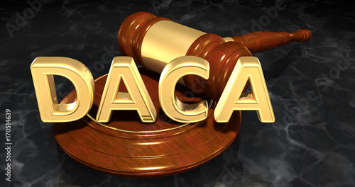 Photo DACA Deferred Action For Childhood Arrivals Legal Concept 3D Illustration