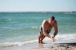 training on beach