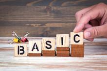 Basic Concept. Wooden Letters ...