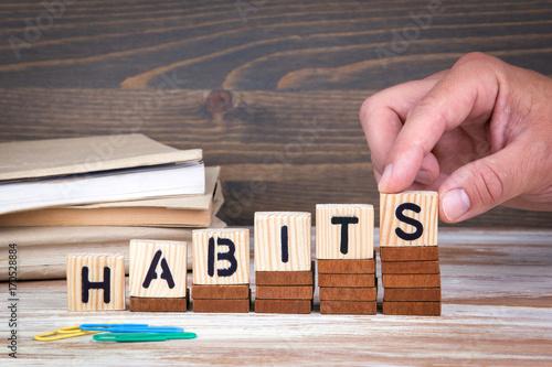 Stampa su Tela  Habits concept