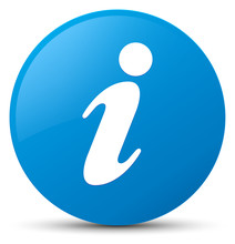 Info Icon Cyan Blue Round Button