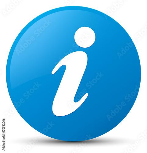 Fototapeta Info icon cyan blue round button obraz