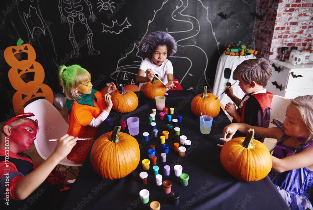 Fototapety, obrazy: Pumpkin is a symbol of halloween