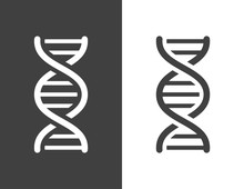 Vector Dark Grey Dna Helix Icon