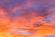 Dramatic sunrise sky with clouds.Blur or Defocus image.