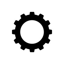 Cogwheel Or Gear Icon. Simple ...