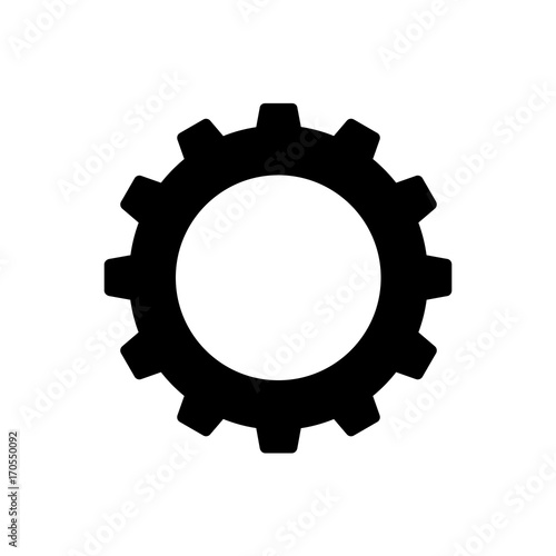 Cuadros en Lienzo  Cogwheel or gear icon