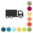 Farbige Buttons - Lastwagen