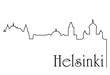 Helsinki city one line drawing background