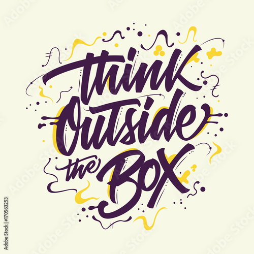 Fotografía  Think Outside The Box Typography Design