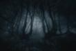 Leinwandbild Motiv nightmare forest with creepy trees
